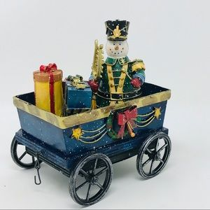 Large Holiday Snowman Cart with Christmas Gifts